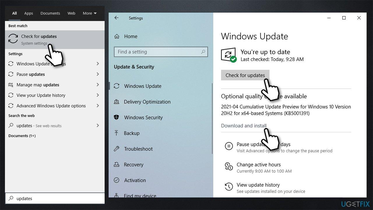 Install all Windows updates