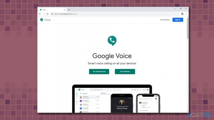 Create Google Voice account