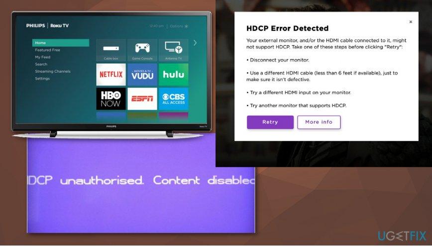 Roku TV HDCP Error