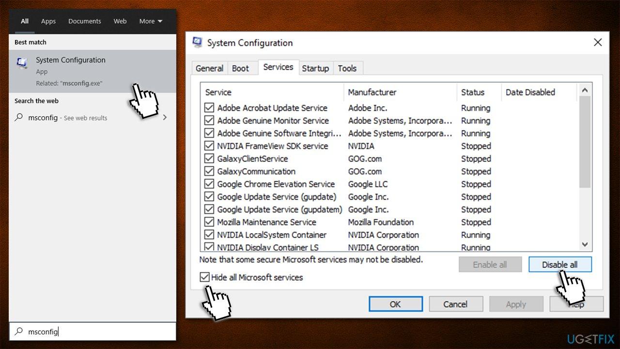 Disable non-Windows processes