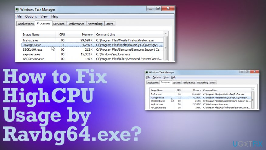 Fixing RAVBg64.exe issue
