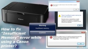 "How to fix ""Insufficient Memory"" error while using a Canon printer?"