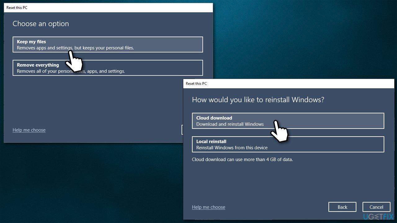 Reset Windows - keep all files