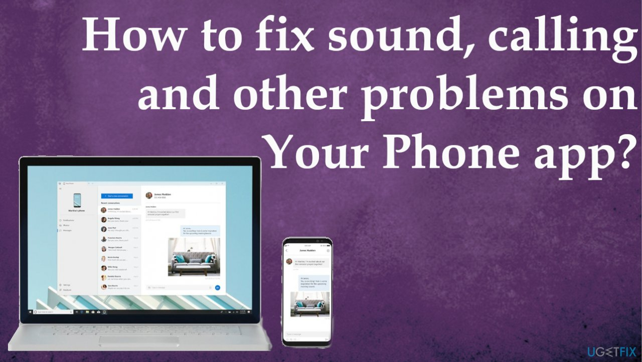 Sound, calling and other problems on Your Phone app