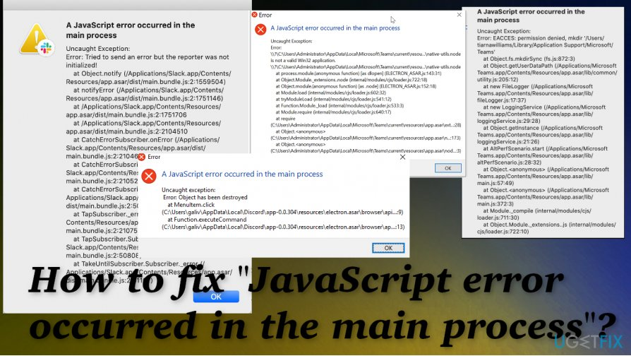 "Fix for ""JavaScript error occurred in the main process"""