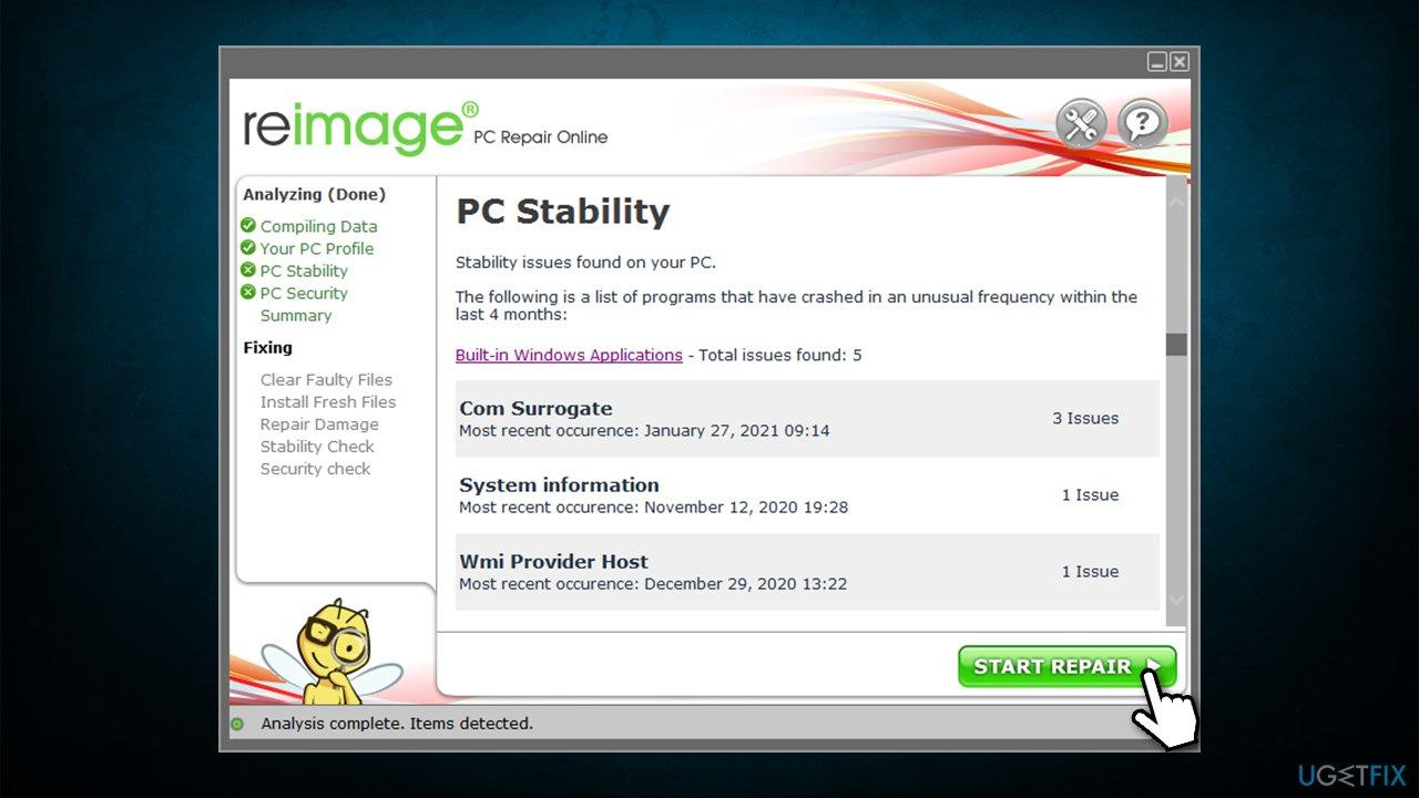 Run PC repair tool