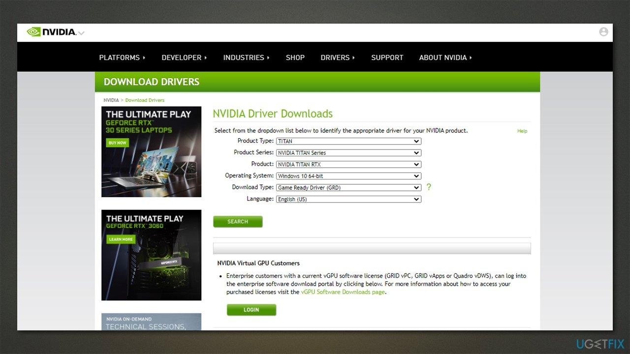 Update GPU drivers