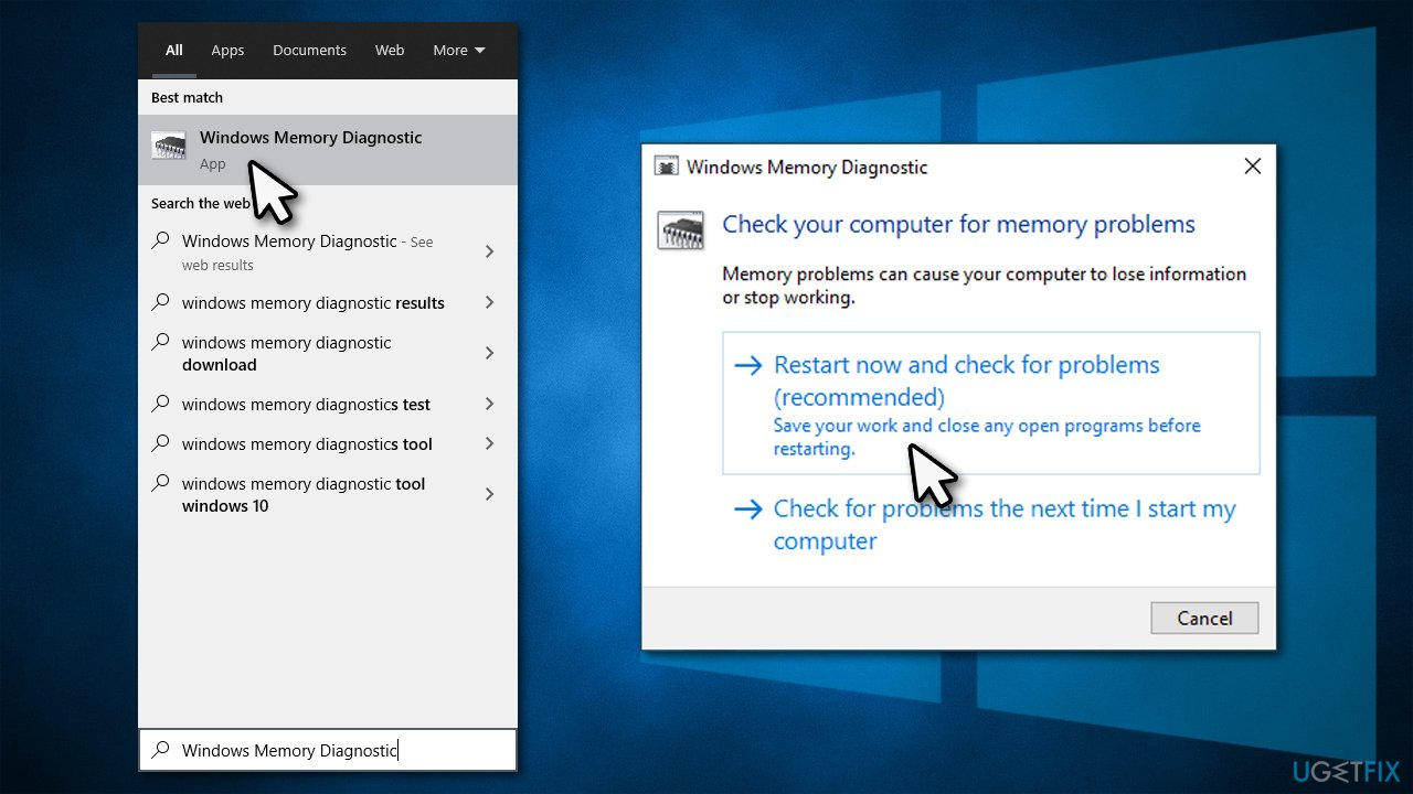 Run Windows Memory Diagnostics