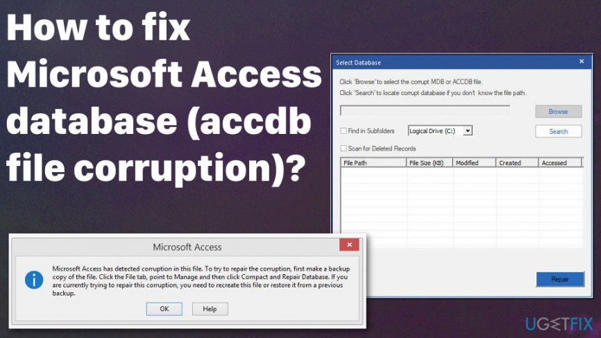 Microsoft Access database corrupted