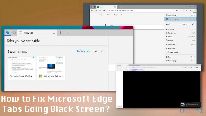 How to fix Microsoft Edge Tabs Going Black Screen