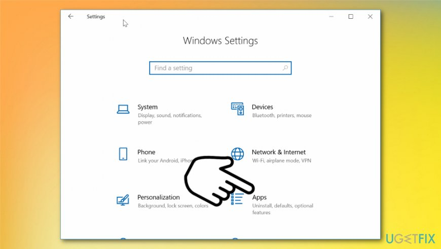 Windows Settings window