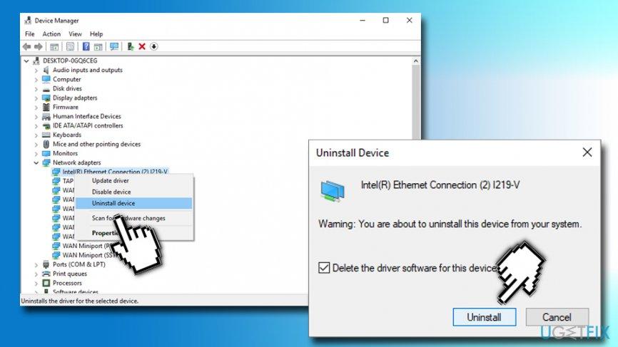 Reinstall Network Adapter driver