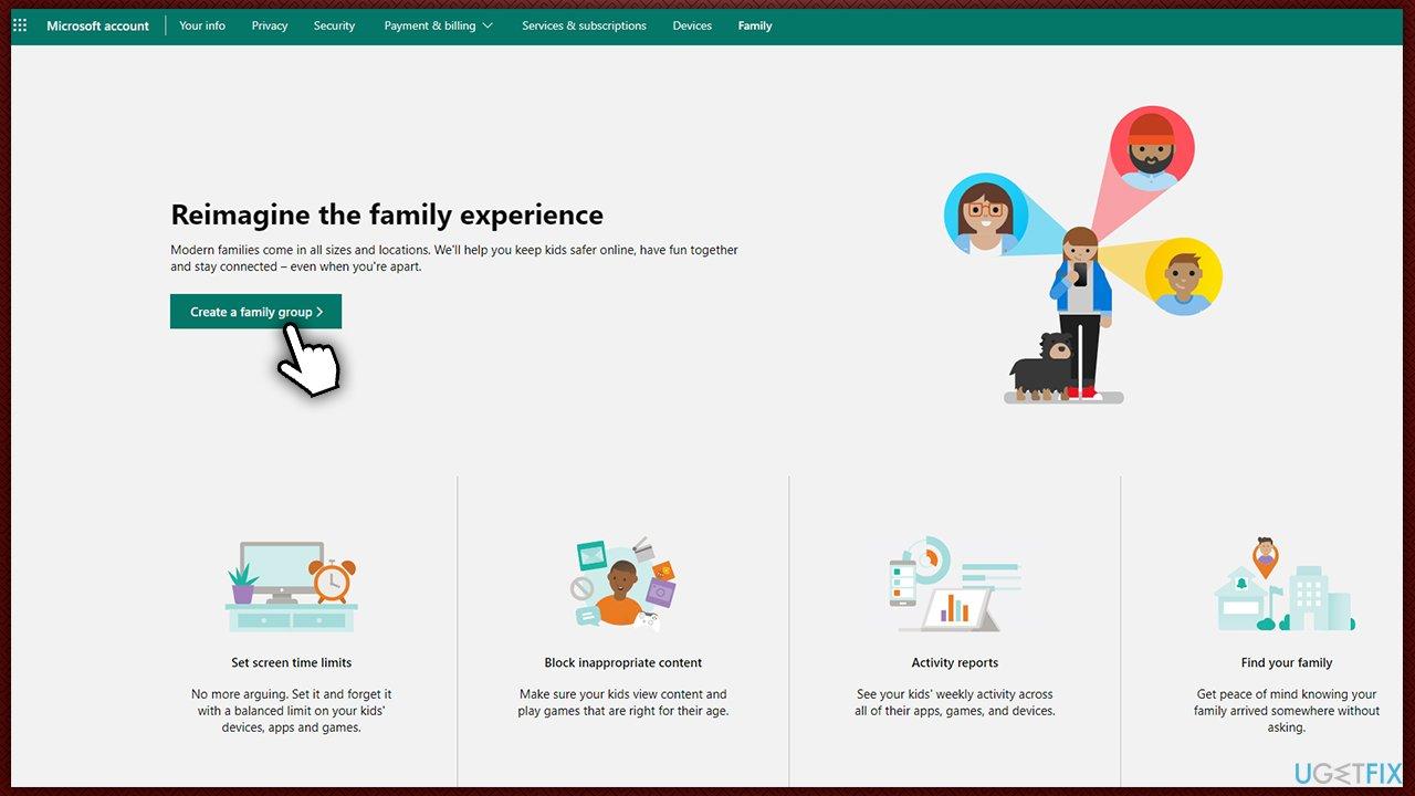 Create family group