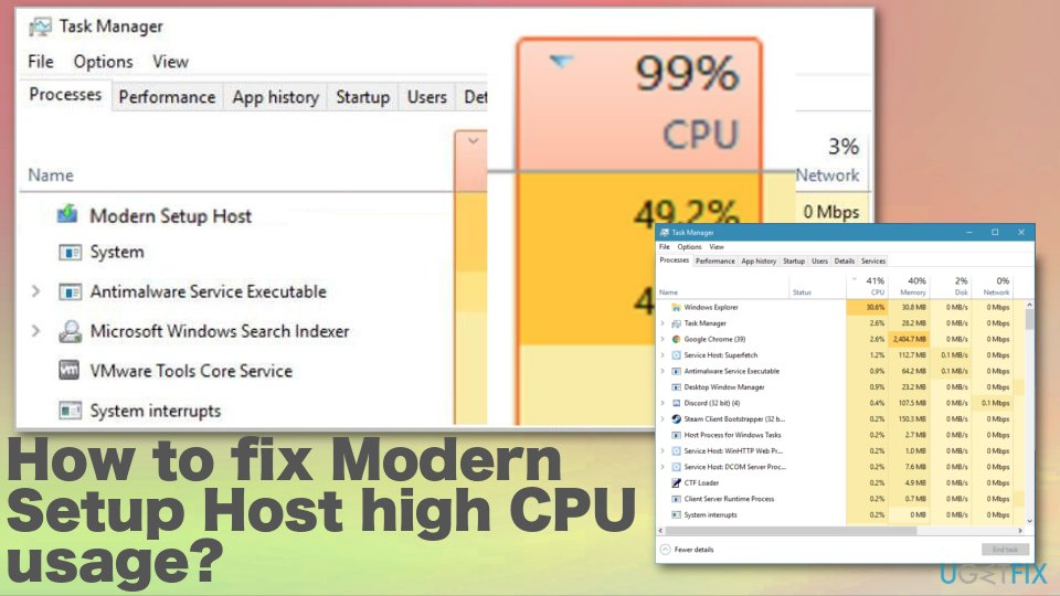 The issue with Modern Setup Host high CPU usage