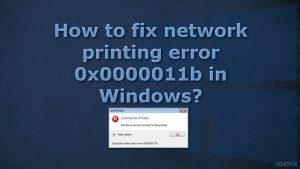 How to fix network printing error 0x0000011b in Windows?