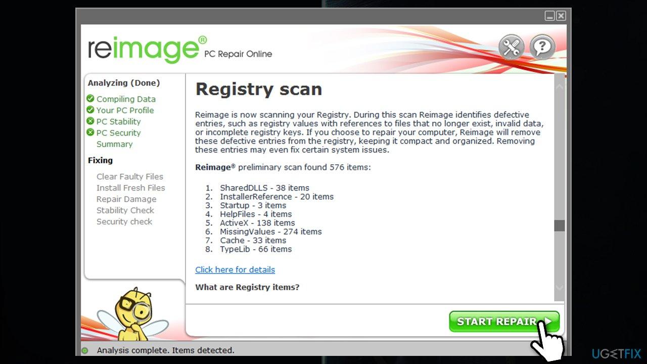Use automatic repair tool