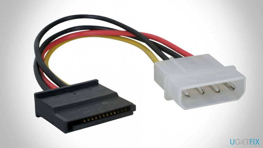 Check SATA cable connections