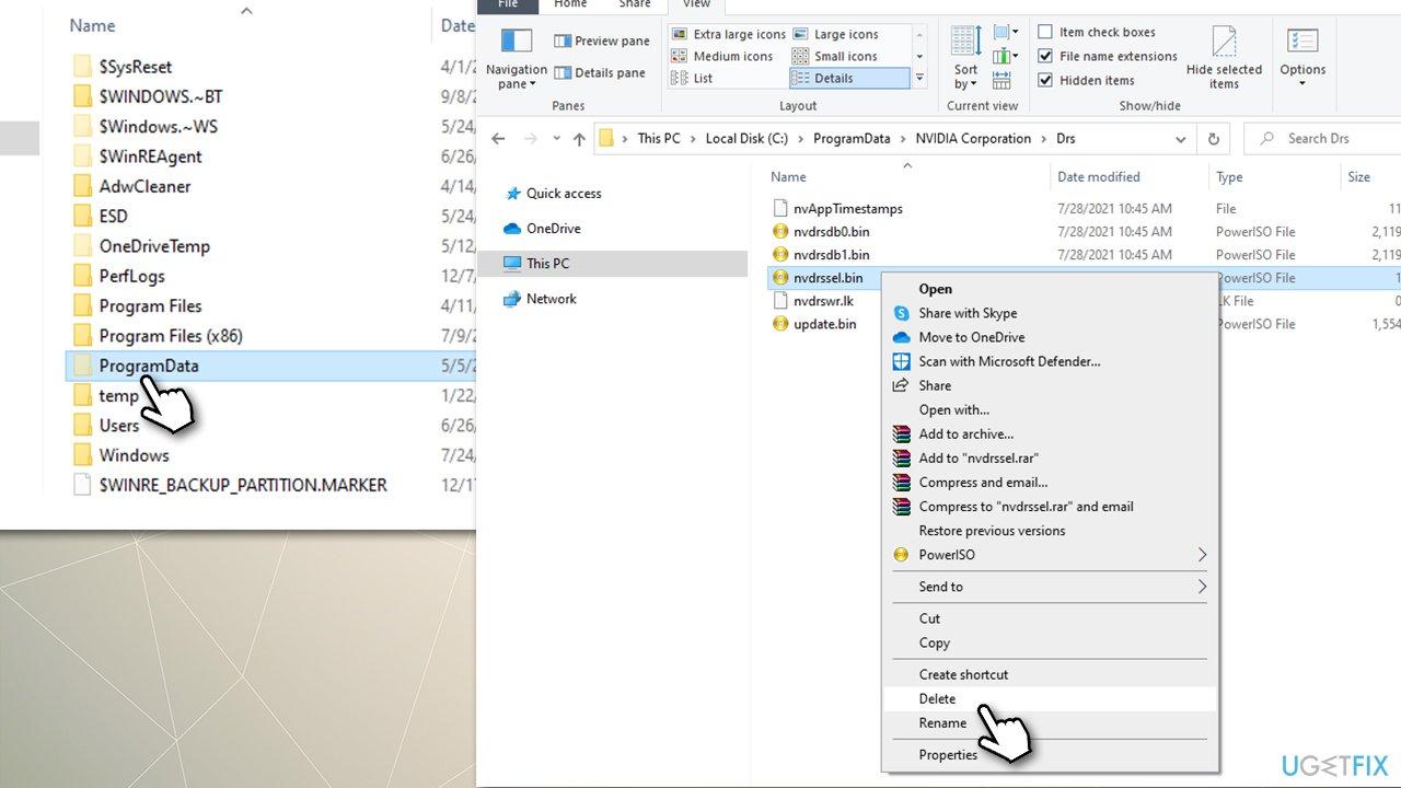 Delete the nvdrssel.bin file