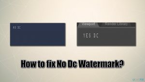 How to fix No Dc Watermark while playing games?