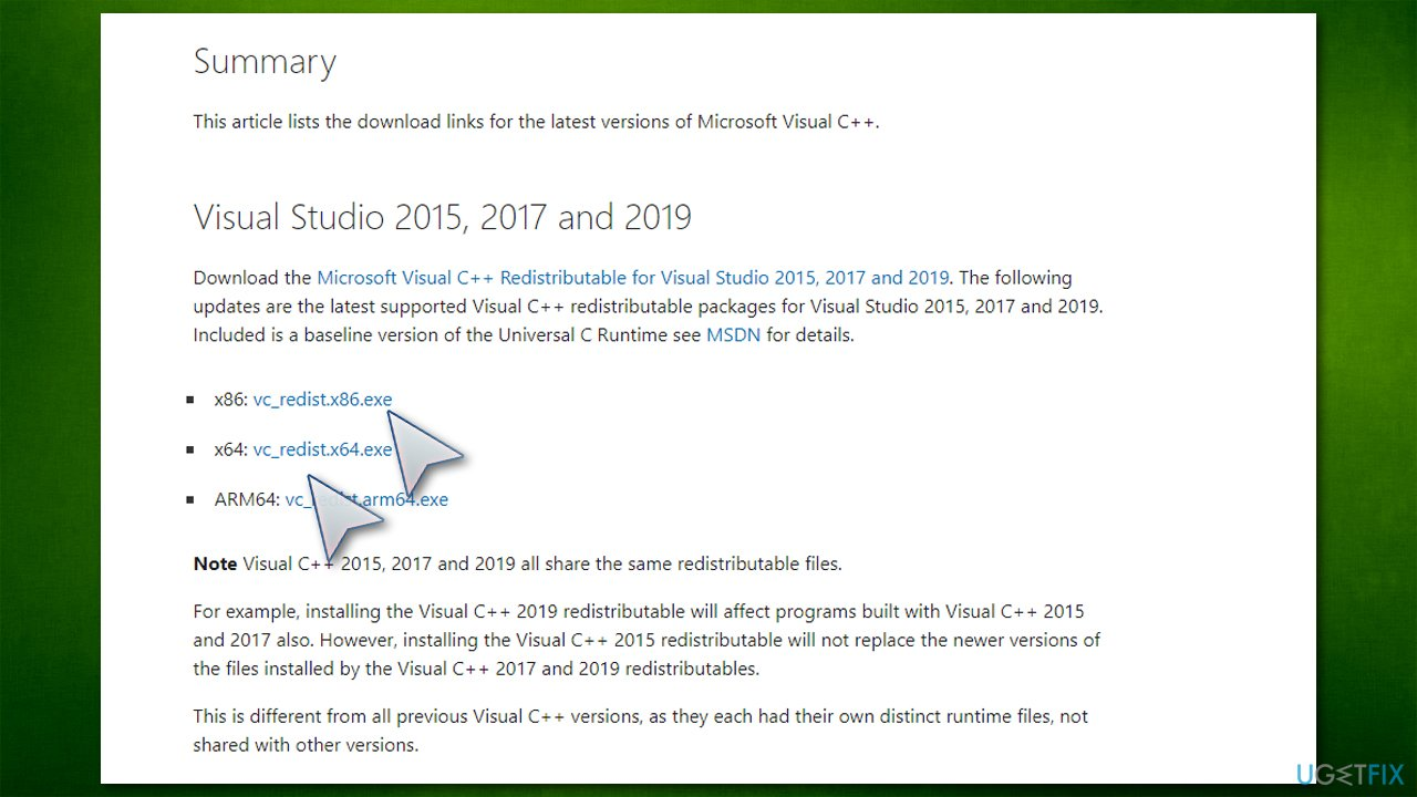 Download Microsoft Visual C++ 2015, 2017 and 2019 Redistributable