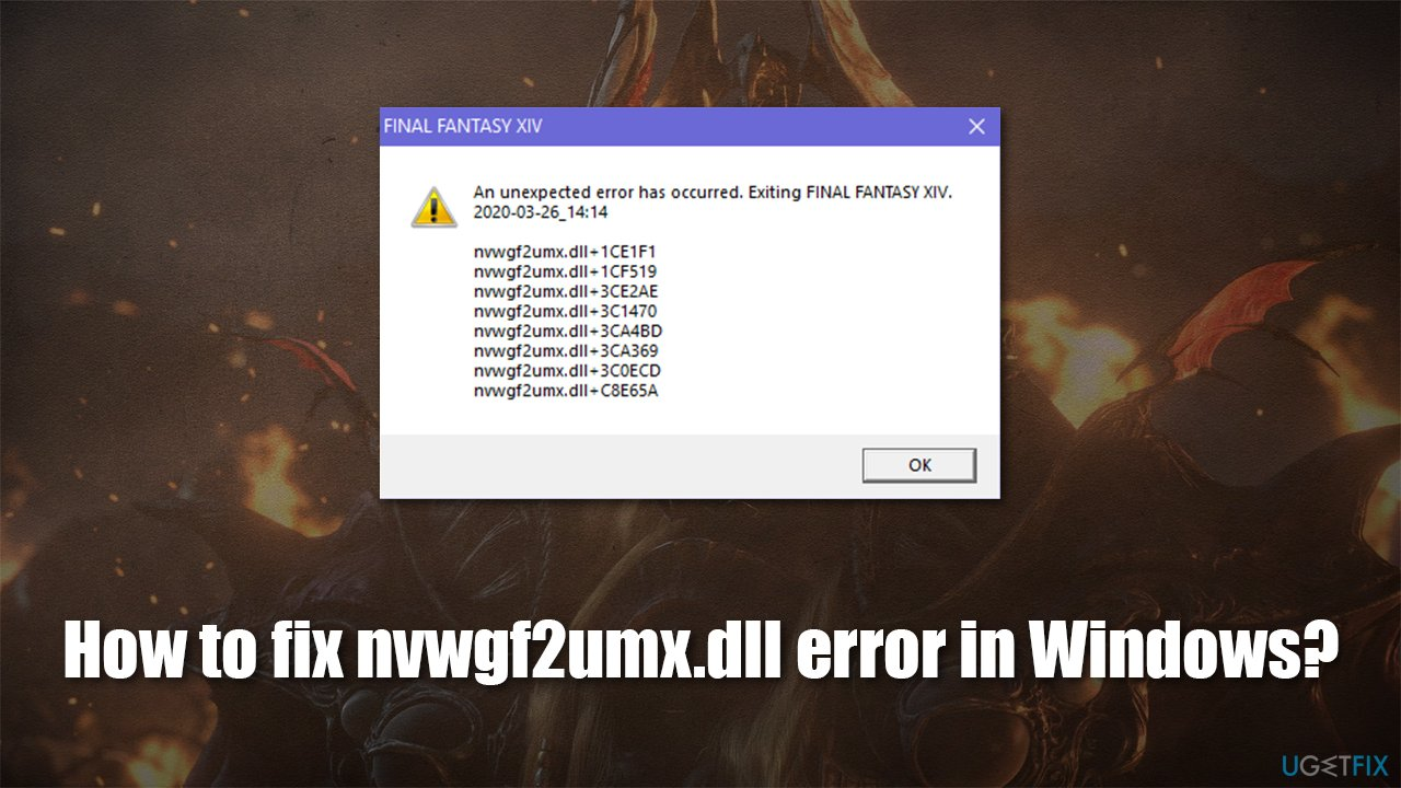 How to fix nvwgf2umx.dll error in Windows?