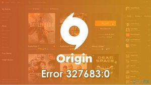 How to fix Origin error 327683:0?
