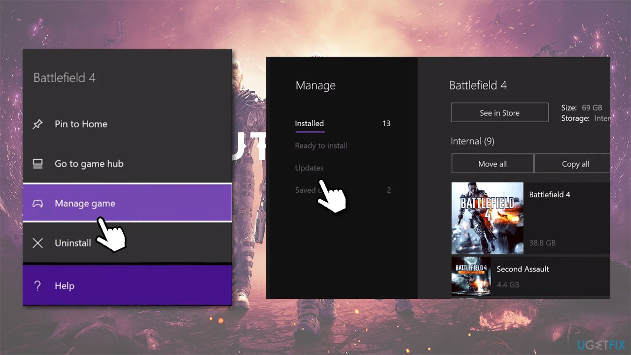 Update the game on Xbox