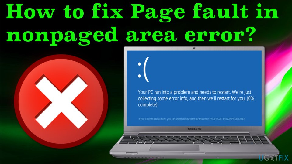 Page fault in nonpaged area error
