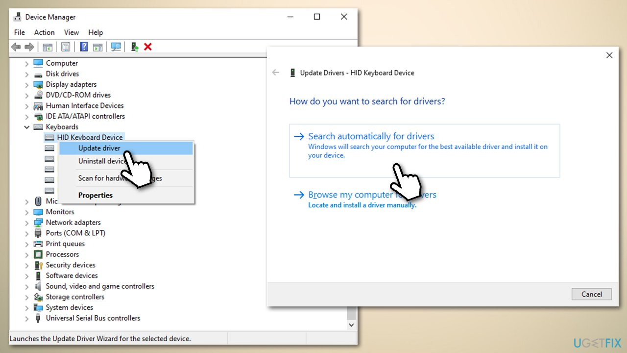 Update keyboard drivers
