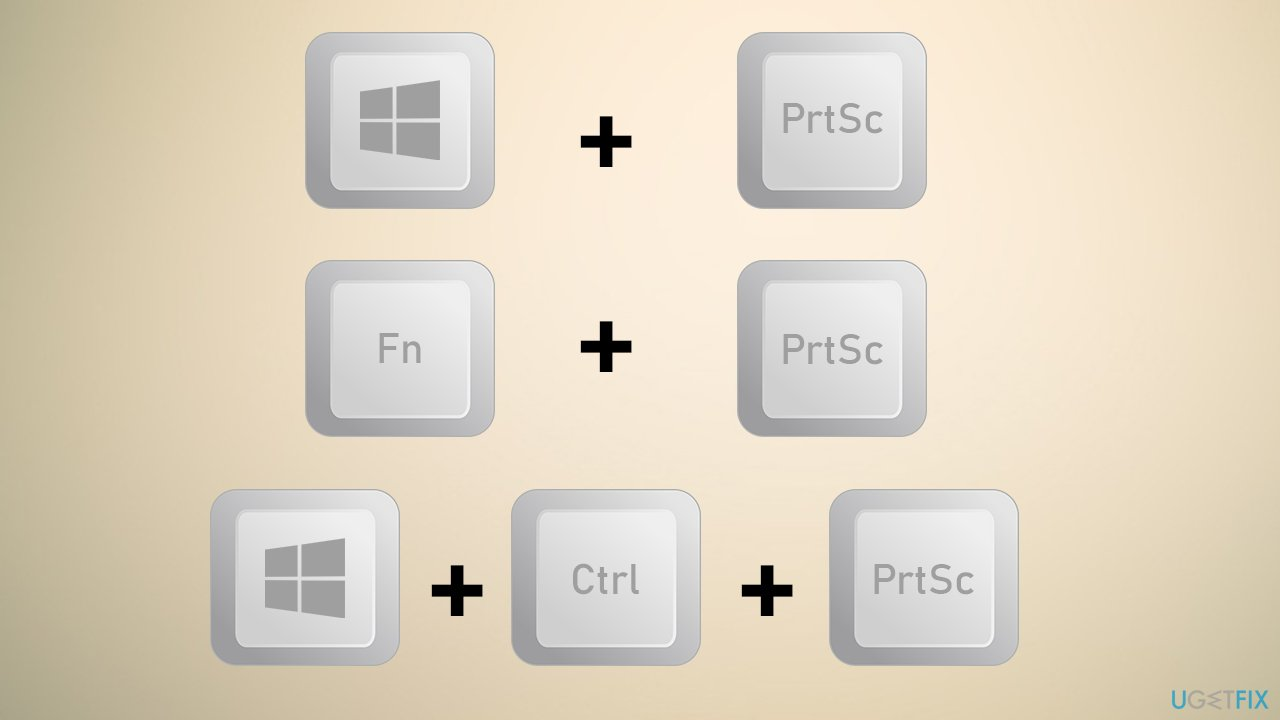 Use different key combinations