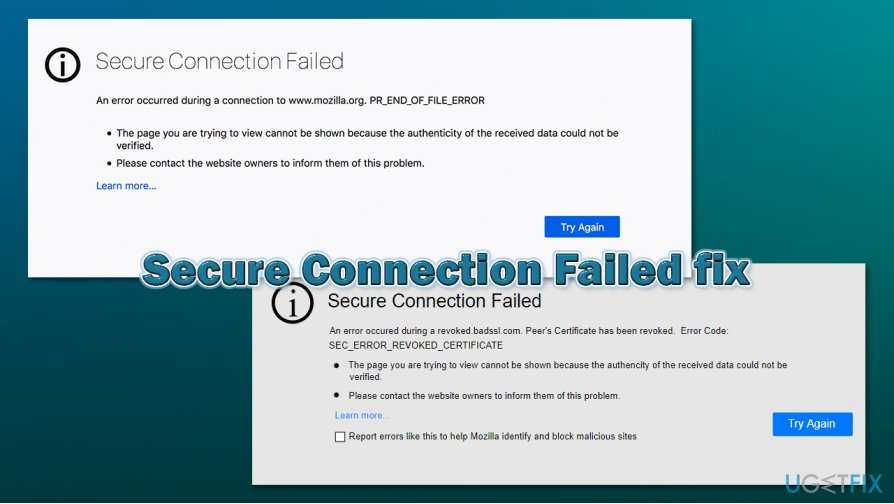 How to fix Secure Connection Failed error