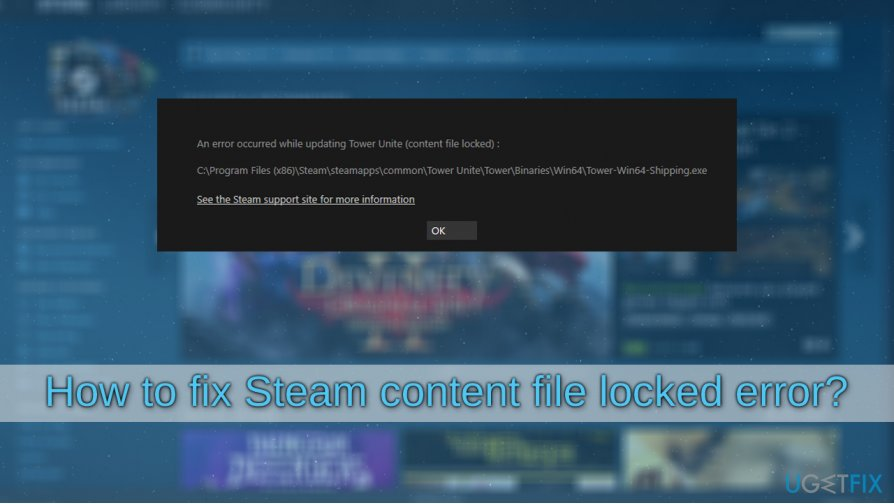 How to fix Steam content file locked error?