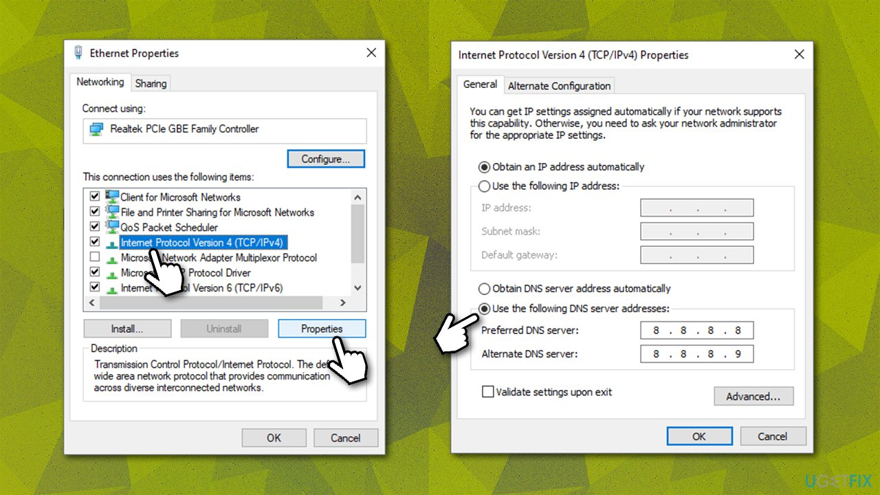 Use different DNS settings