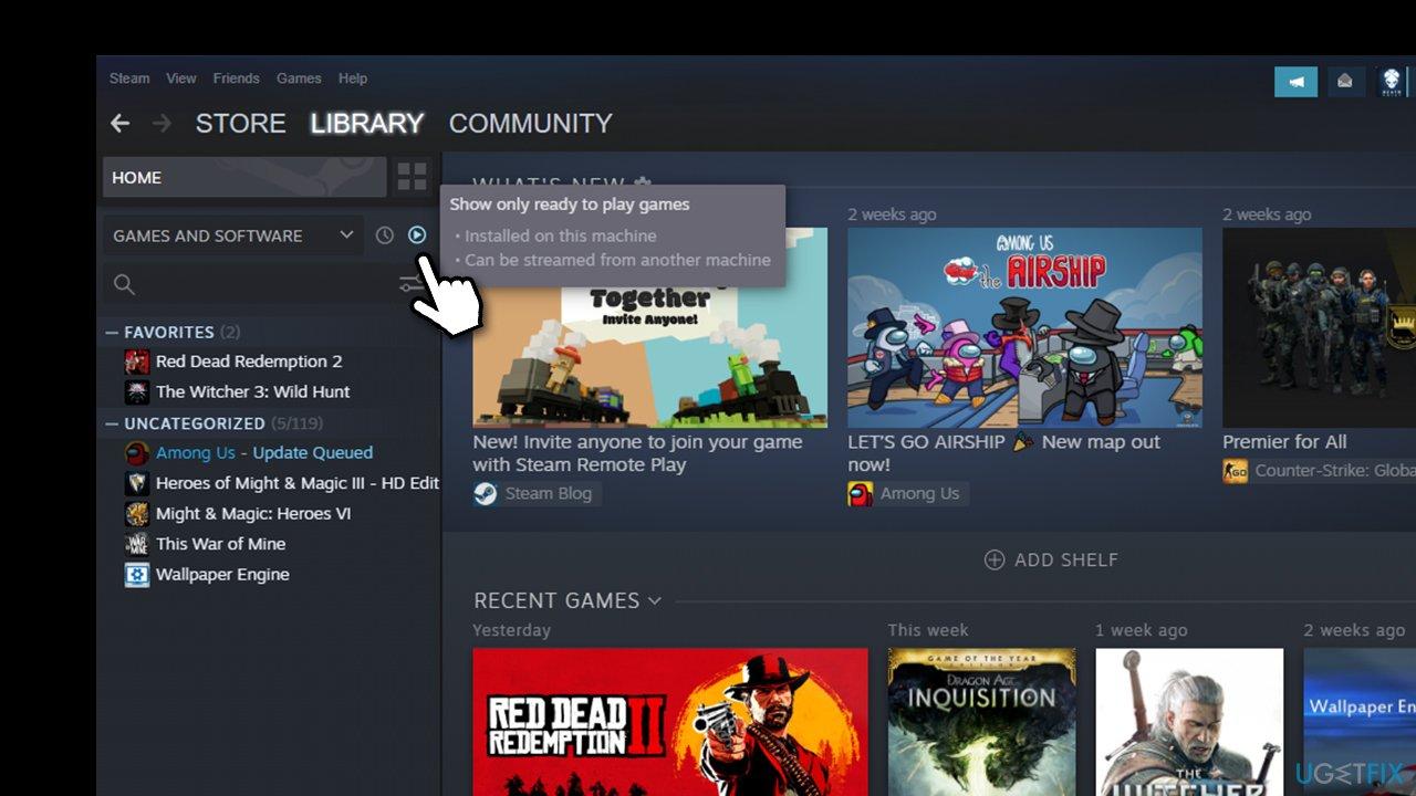 Check Steam filers