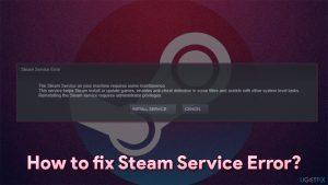 How to fix Steam Service Error on Windows?