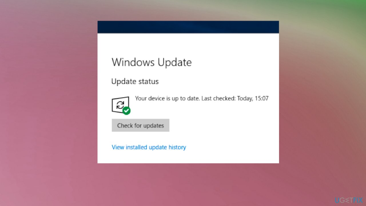 Windows OS update