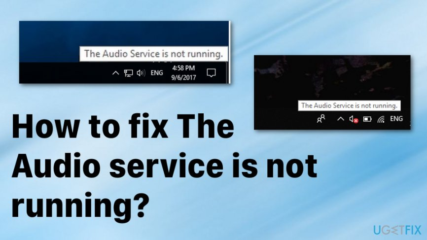 How to fix Audio service is not running error on Windows