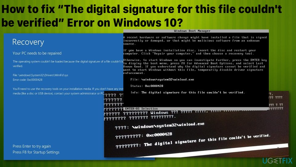 """The digital signature for this file couldn't be verified"" error"