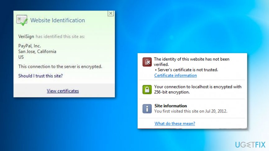 Reinstalling the needed certificate