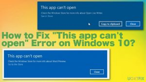 """How to Fix """"This app can't open"""" Error on Windows 10?"""