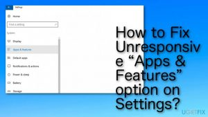 How to Fix Unable to Access Apps & Features Setting Issue on Windows 10?