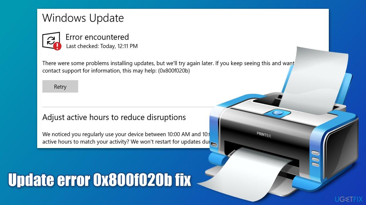 How to fix update error 0x800f020b in Windows?