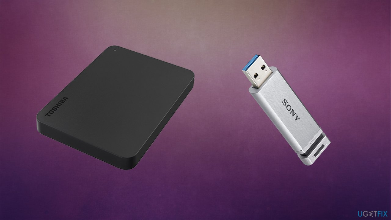 Disconnect removable drives