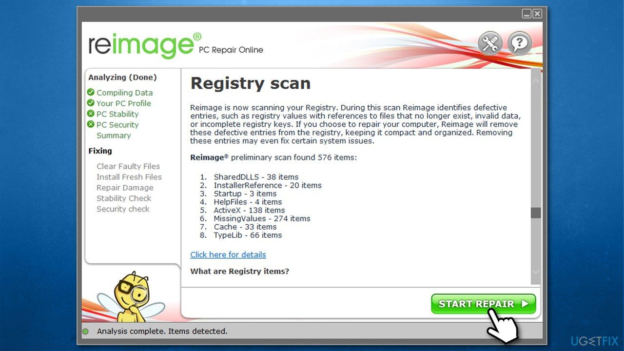 Use PC repair tool