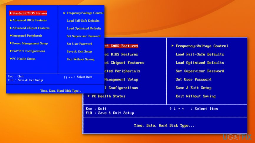 Windows boot options