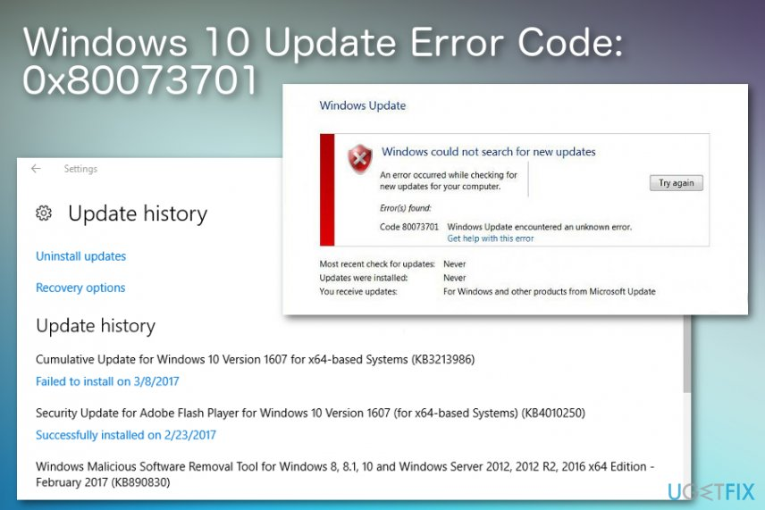 How to fix error code 0x80073701 on Windows 10