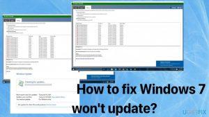 How to fix Windows 7 won't update?