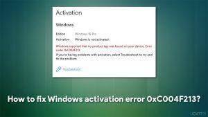 How to fix Windows activation error 0xC004F213?