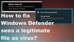 How to fix Windows Defender sees a legitimate file as virus?