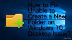 FIX: Can't create a New Folder on a Windows 10 Desktop